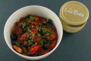 Read more about the article Chorizo-Hähnchen mit Kichererbsen
