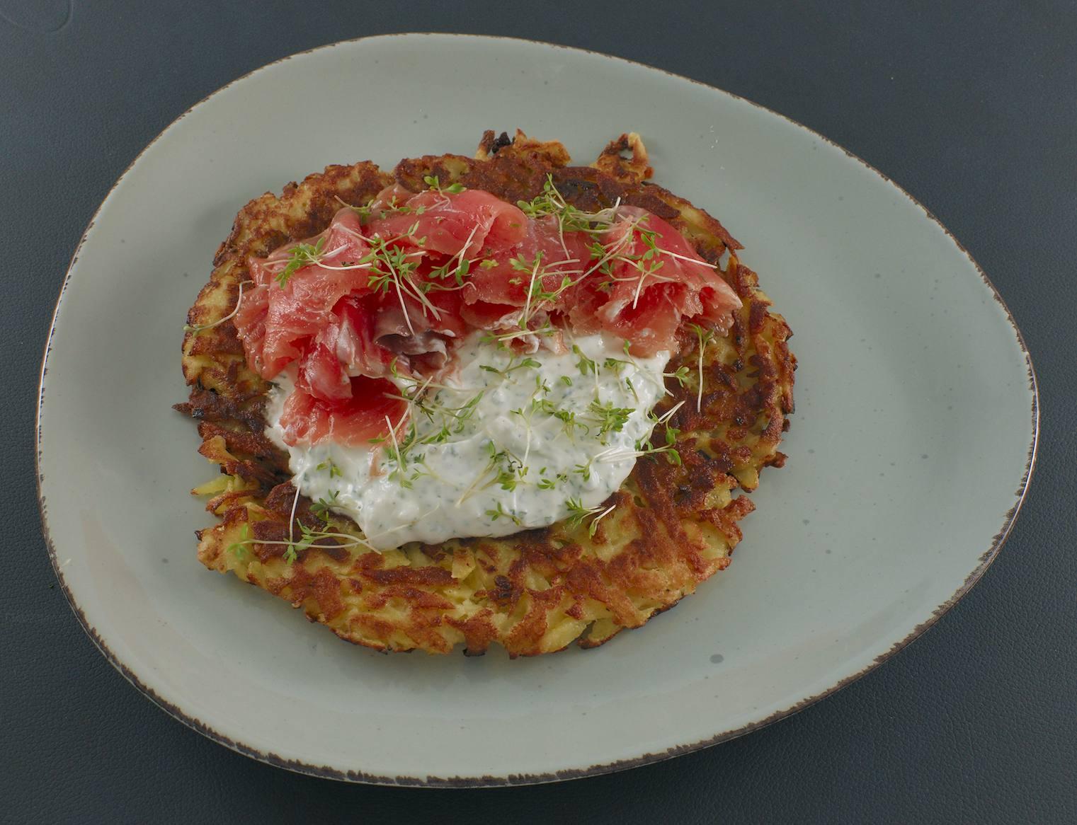Kartoffelpuffer | Kräuterquark | Lachs