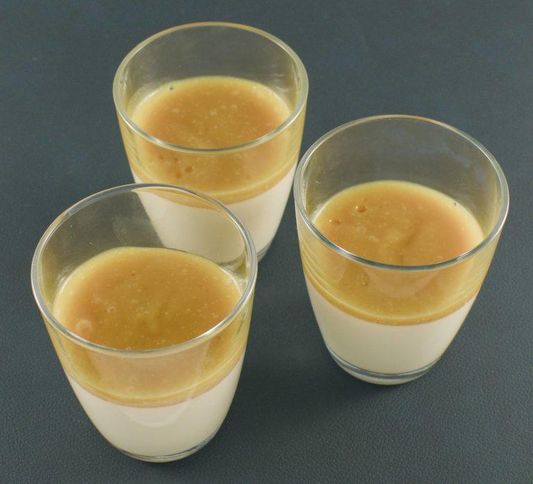 Kokosmilch-Zitronengras Panna Cotta | Mangopüree