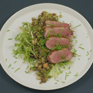Read more about the article Linsensalat   Entenbrust