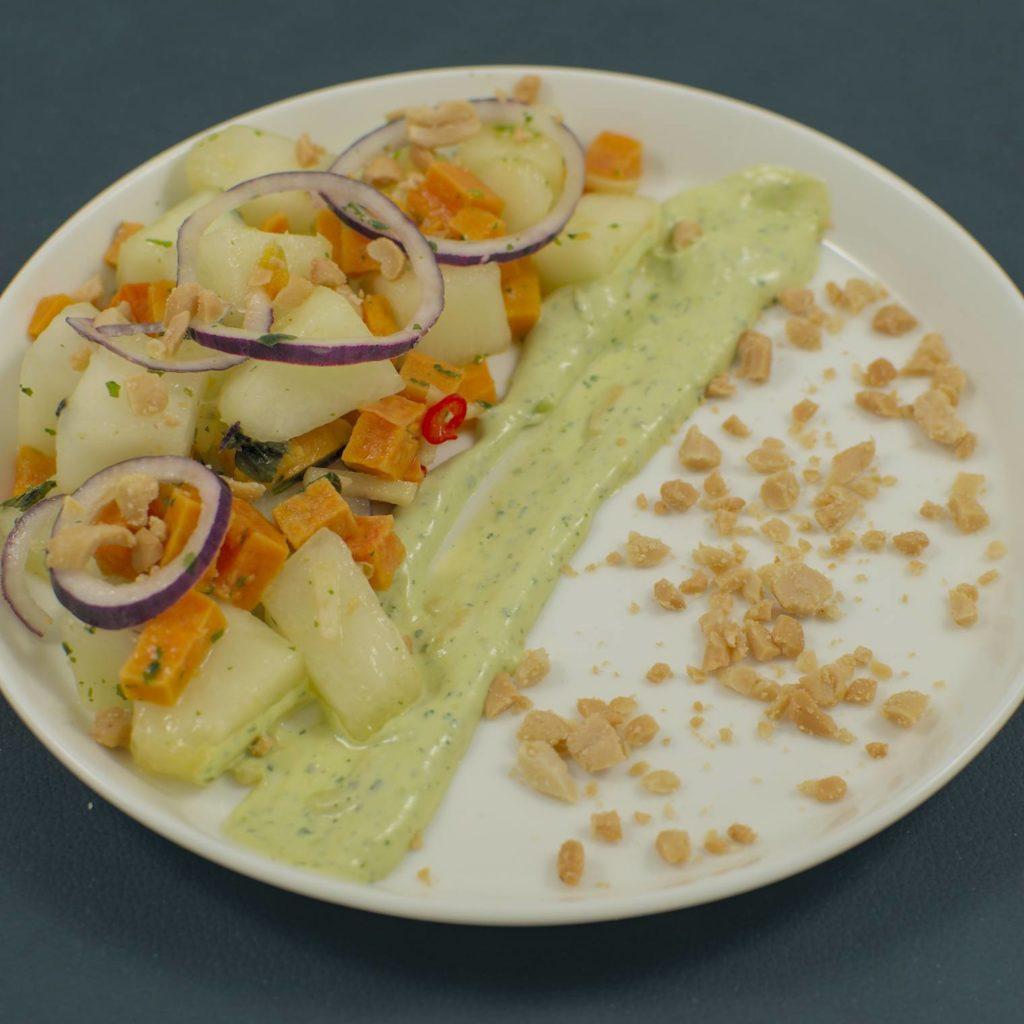 Süßkartoffel | Futoro-Melone | Avocado-Limetten-Mayonnaise