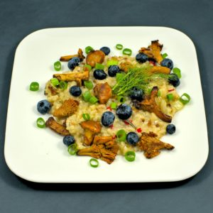 Read more about the article Risotto   Pfifferlinge   Fenchel   Blaubeeren