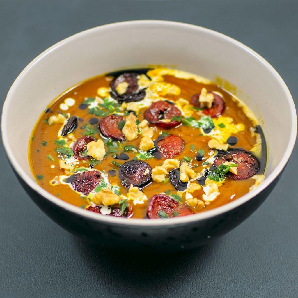 Hokkaido-Kürbis-Suppe | Chorizo | smoky