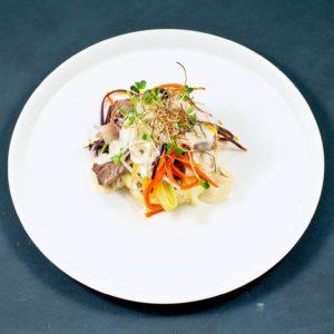 Read more about the article Tafelspitz   Meerrettich-Sauce   Kartoffelpüree   Gemüsejulienne