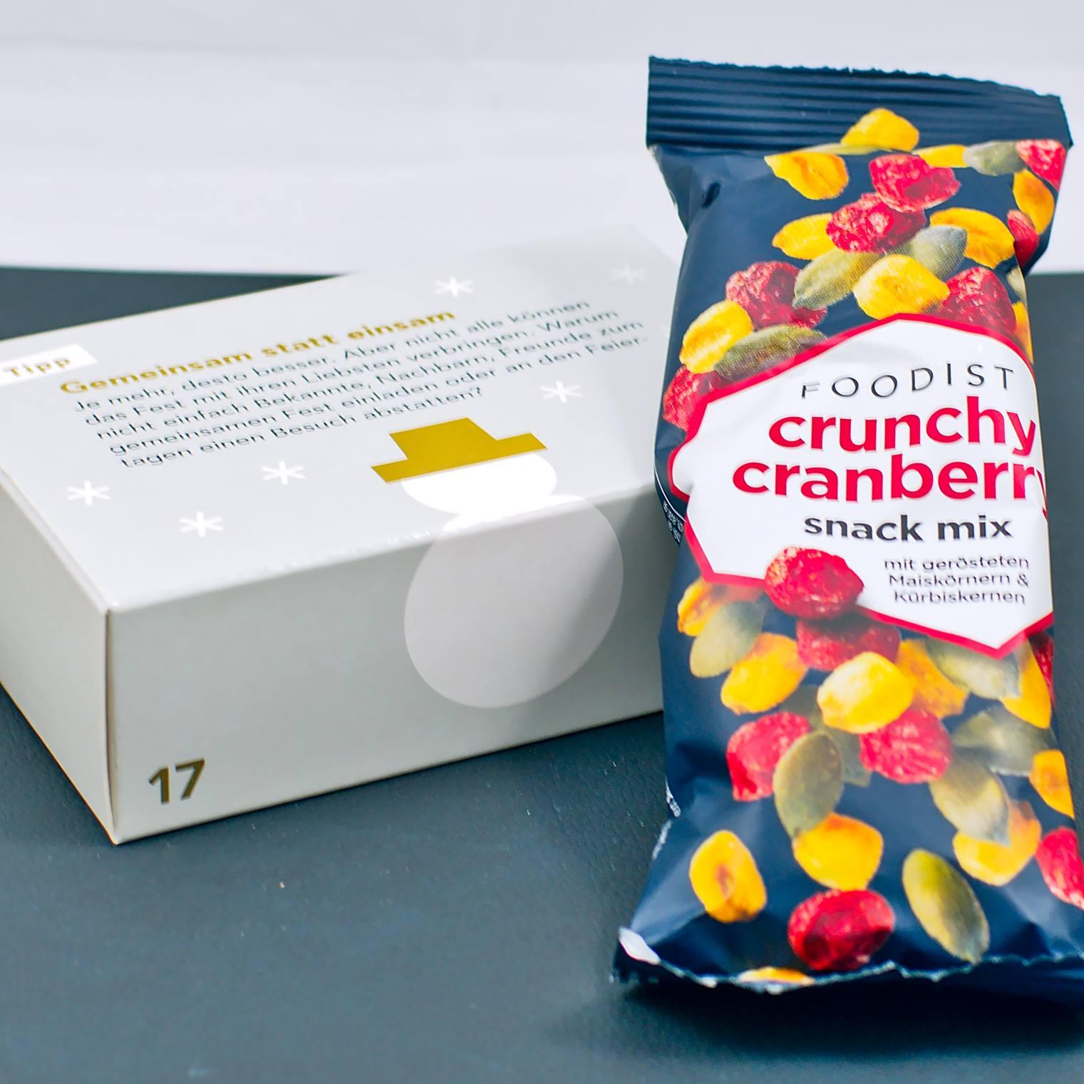 Crunchy Cranberry Snack Mix Maiskörner & Kürbiskerne | 17. Türchen