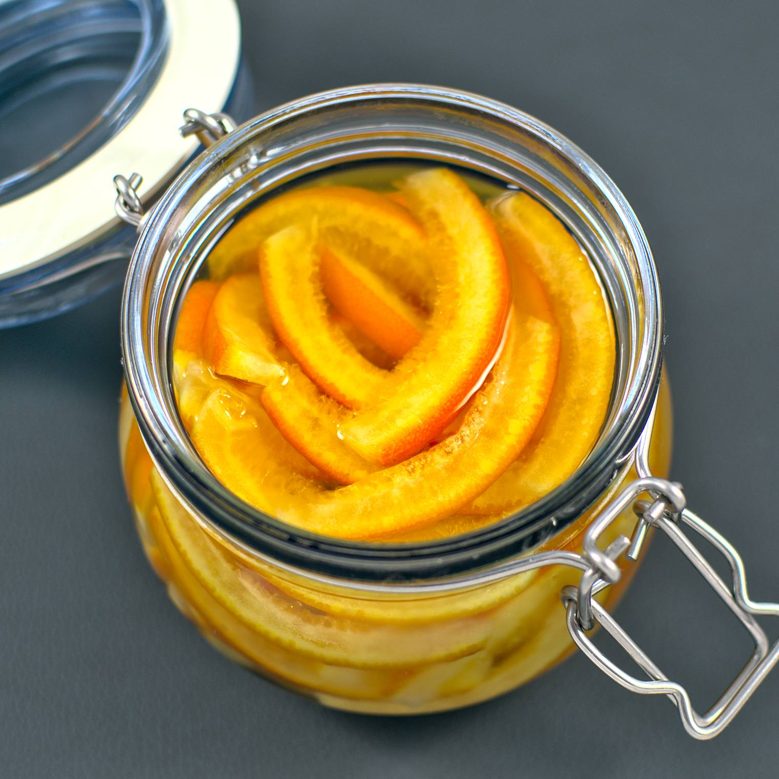 Kandierte Orangenschalen
