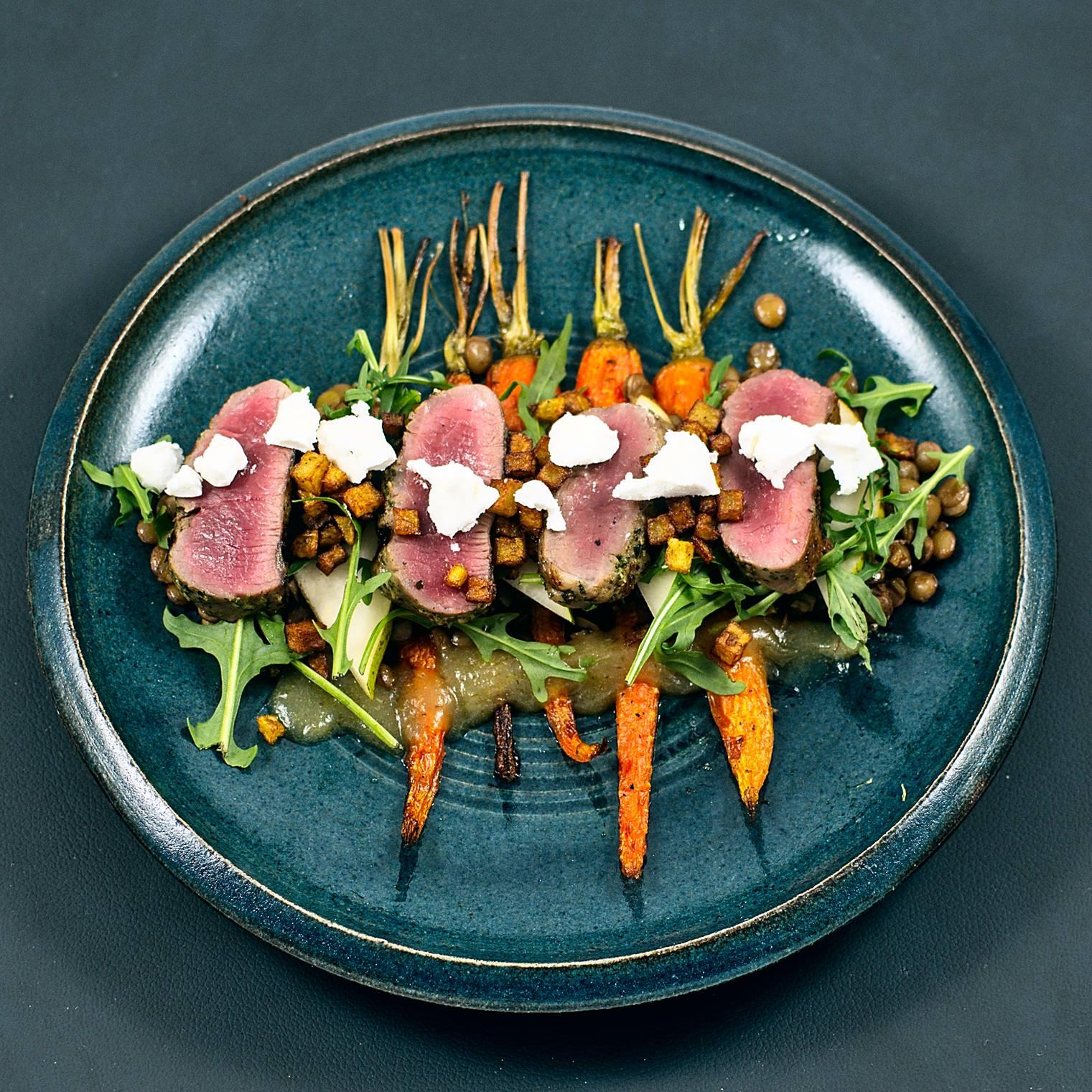 Karotten | Linsen | Kartoffeln | Birne | Lamm | Ziegenkäse