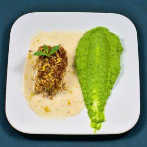 Read more about the article Mandelkruste | Zitrone | Skrei | Erbsen